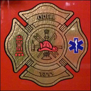 Odell, IL Fire & Rescue Logo